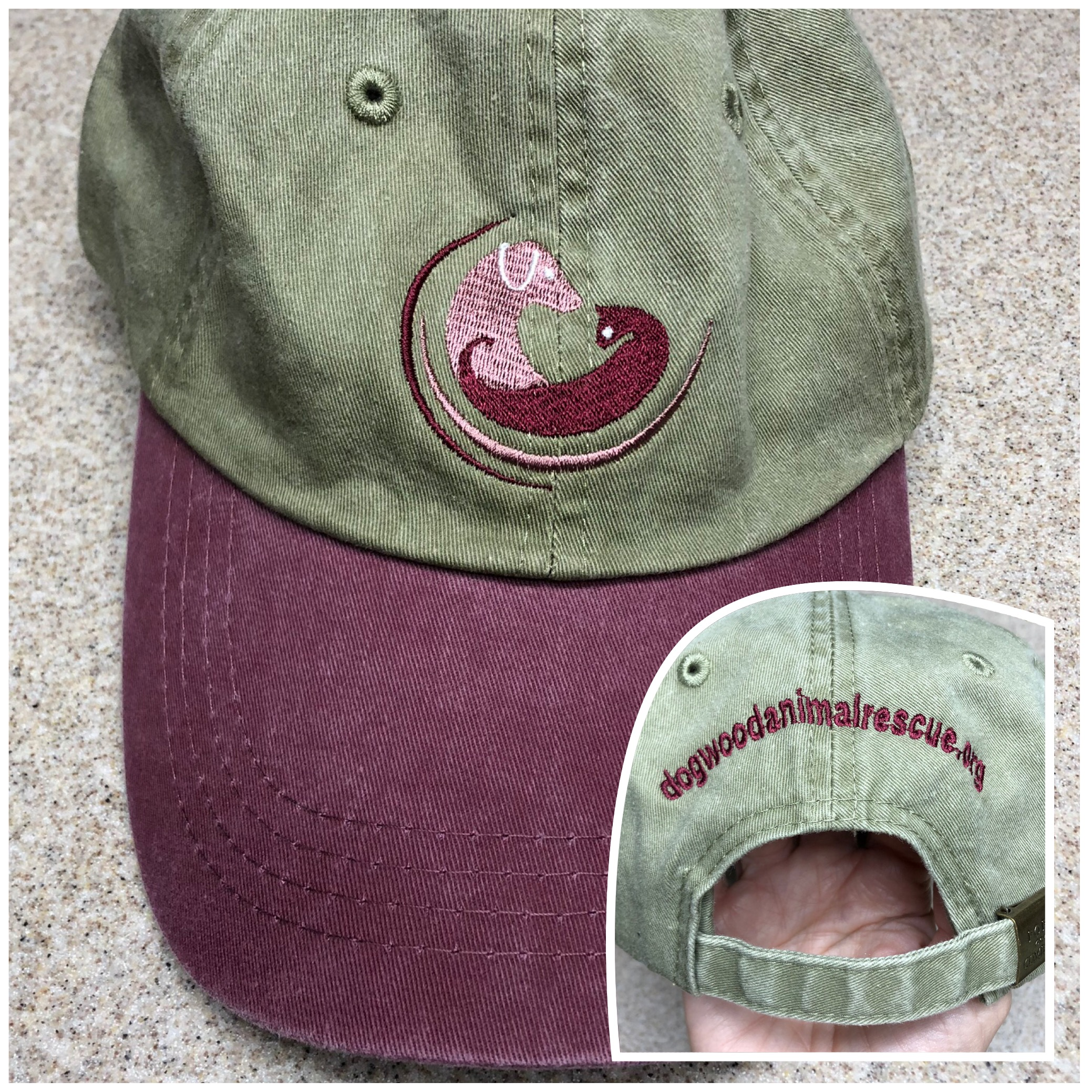 Dogwood Animal Rescue Baseball Hat - Maroon-KhakiDogwood Animal ... 6063c2bdff9