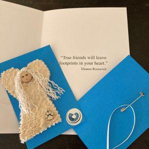 Canine Sympathy Card with Angel