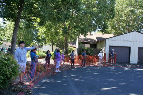 June 2017 ~ Dogwood volunteers help rescue abandoned dog living on Santa Rosa street.